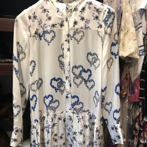 Sandro silk heart dress